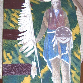 hand made native american paper doll in book