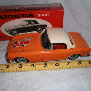Japanese tin model cars bought in country ca 1962 - Toys
