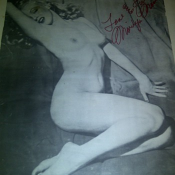 Marilyn monroe nude poster pinup