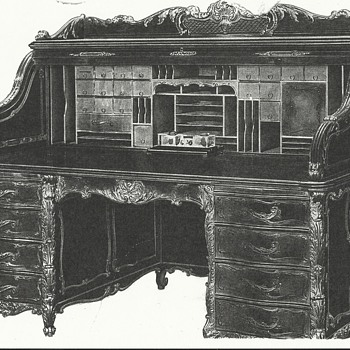 Wm Schwarzwaelder Desk won at Chicago World's Fair 1893