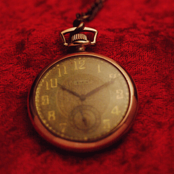 Old Rose Gold Elgin Pocket Watch - Pocket Watches