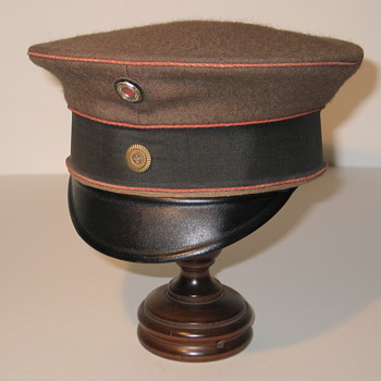 WWI Field Grey Imperial German Officer's Visor Cap - Military and Wartime