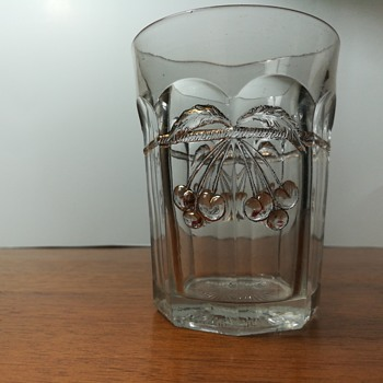 Northwood Cherry and Cable tumbler, c. 1904 - Glassware