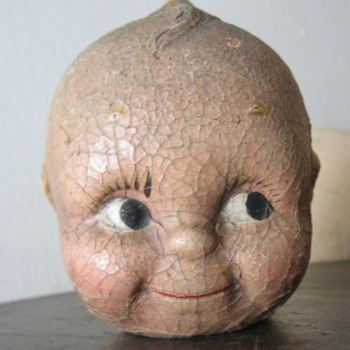 Large old kewpie doll head - Dolls