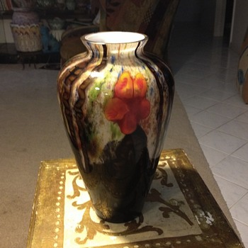 "Beautiful Signed Kralik ""Marquetry"" BAMBUS Vase - Art Glass"