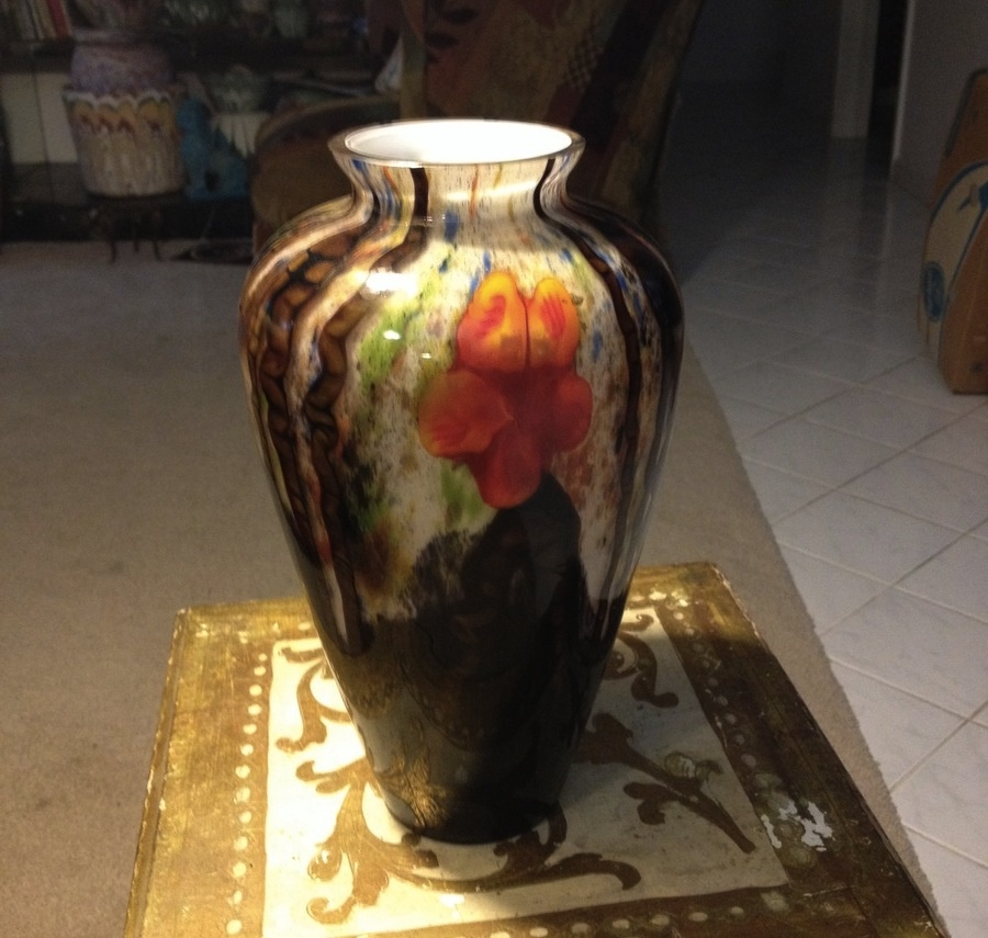 beautiful signed kralik marquetry bambus vase collectors weekly. Black Bedroom Furniture Sets. Home Design Ideas