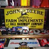 Original John Deere Embossed Tin Sign...Made By The American Art Works Inc., Cochocton, Ohio