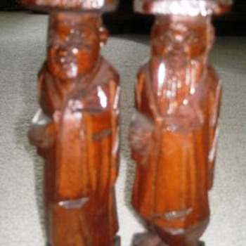 Asian Wooden Figures