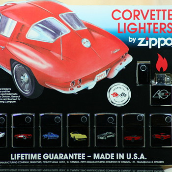 corvette zippos - Tobacciana