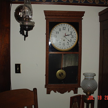 Antique Sessions Oak Calender Clock
