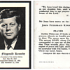 John F. Kennedy Prayer Card