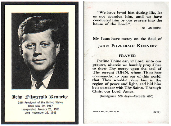 John F. Kennedy Prayer Card | Collectors Weekly