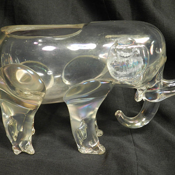 Loetz Crystal Elephant Iridescent Vase - Art Nouveau
