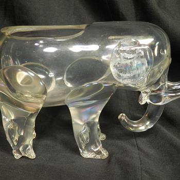 Loetz Crystal Elephant Iridescent Vase