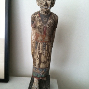 Asian/Pacific Woman Wood Sculpture - Visual Art