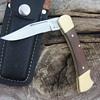 'BULLET' Brand FOLDING LOCKBACK KNIFE with LEATHER SHEATH made in PAKISTAN