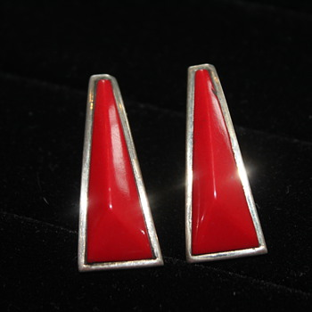 J Woolsey Modern Sterling Earrings