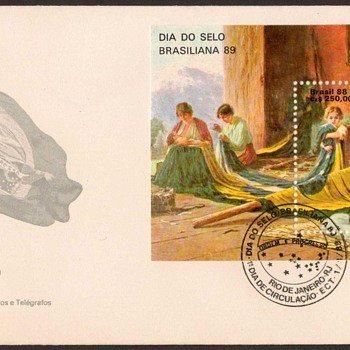 "1988 - ""Stamp Day"" First Day Cover - Brazil - Stamps"
