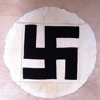 Genuine Swastika My Dad brought it home from WWII, made of cloth