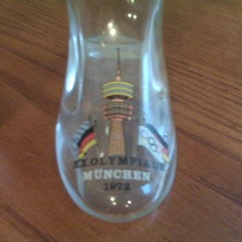 1972 Beer boot from the XX Olympics in Munich Germany - Breweriana