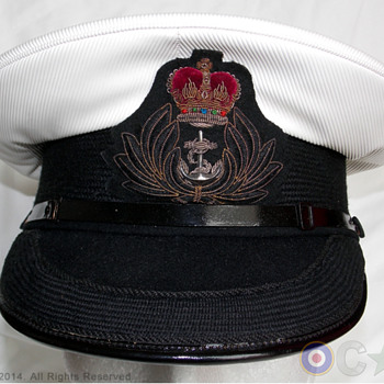 Royal Navy Chaplain's visor cap - Military and Wartime