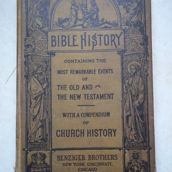 Grandmother's bible history book from school