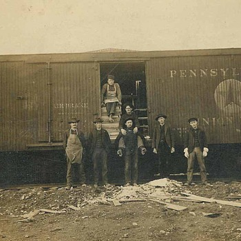 old railcar photo - Photographs