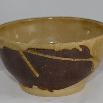 Unknown Drip Glaze Bowl unsigned - Art Pottery