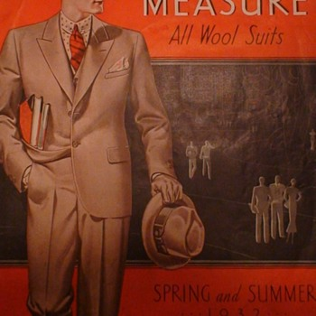 "Montgomery Ward ""Made To Measure All Wool Suits"" 1932 - Advertising"