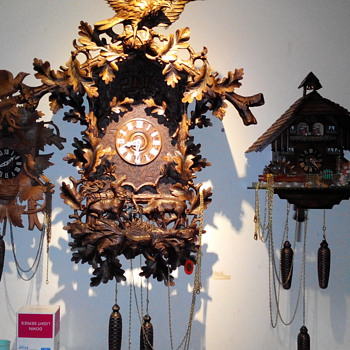 antique black forest clock