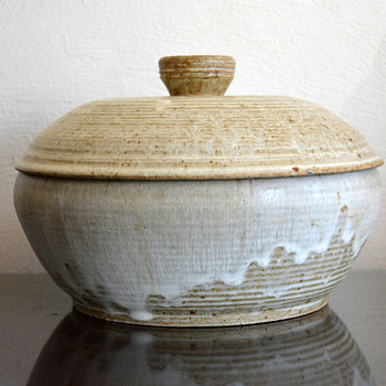Lidded Pottery Bowl
