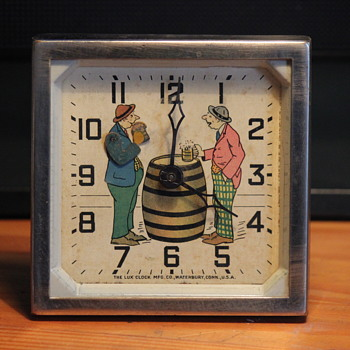 """Happy Days"" Animated Clock by Lux Clock MFG."
