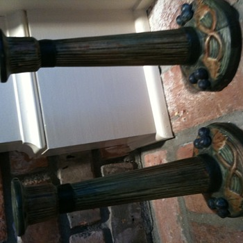 Weller candlesticks - Art Pottery