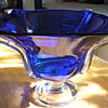 Cobalt compote that matches my large vase