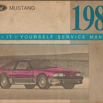 1988 Ford Mustang GT Service Manual - Classic Cars