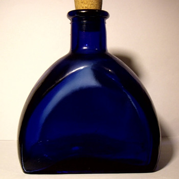 Unknown odd shape old Blue Bottle - Bottles