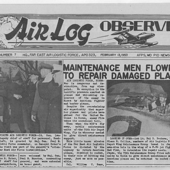 1953 Air Log Observer Newspaper