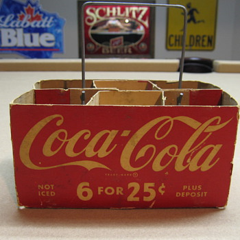 1940's Cardboard Carrier - Coca-Cola