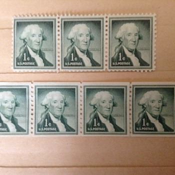 Washington one cent stamp