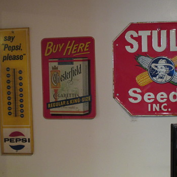 Advertising Signs Collected over the Years