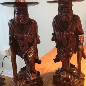 Unknown origin wood carved figurines
