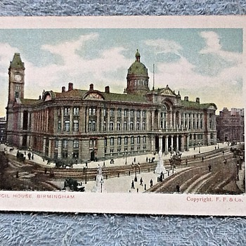 Old Birmingham city centre postcards from 1910.