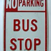 No Parking -- Bus Stop (Embossed)