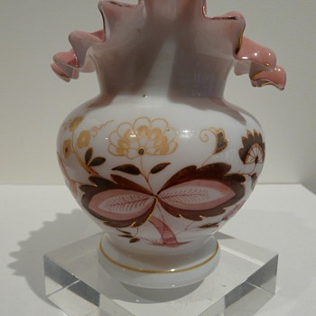 HELP WITH PEACH BLOW VASE! - Art Glass
