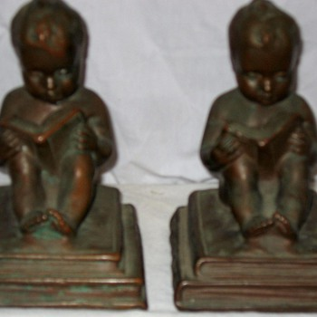 Bronze Bookends - Books