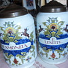 VINTAGE DUTCH DELFTWARE PHARMACY POTS