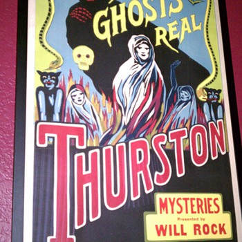 Thurston &quot;Are Ghosts Real&quot; Stone Lithograph Poster