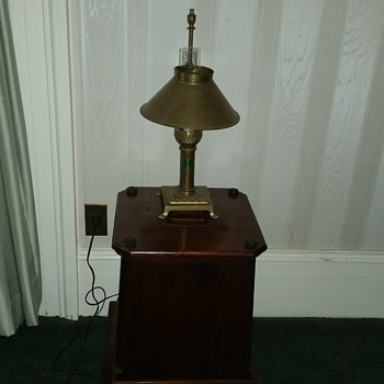 Vtg Paris Istanbul Brass Orient Express Table Lamp Claw Feet