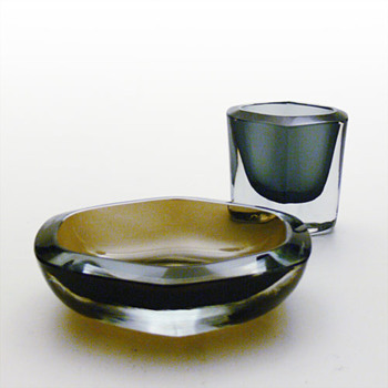 Strmbergshyttan ashtrays and cigarette cases