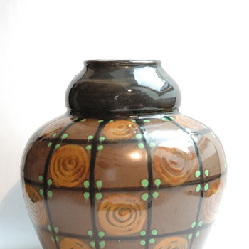 art deco pottery vase by LEON ELCHINGER
